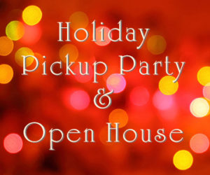 Holiday Pickup Party/Open House @ Sebastopol | CA | United States