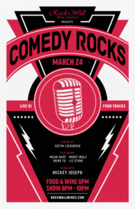 Rock Wall Wine Co Presents: Comedy Rocks! @ Alameda | CA | United States