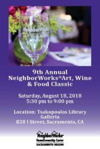 9th Annual NeighborWorks Art, Wine & Food Classic @ Tsakopoulous Library Galleria | Sacramento | CA | US