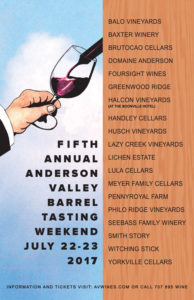 Anderson Valley Barrel Tasting Weekend @ Featuring Anderson Valley AVA & Yorkville Highlands AVA Wineries | Boonville | California | United States
