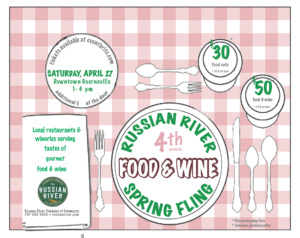 Russian River Food and Wine Spring Fling 2019 @ Downtown Guerneville | Guerneville | CA | US