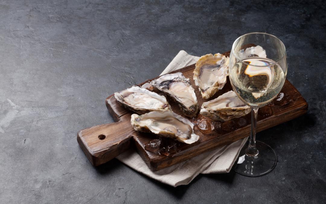 Raw bar + wine tasting: local oysters, sushi + hand rolls