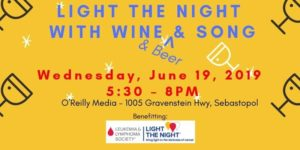 Light the Night with Wine & Beer & Song @ O'Reilly Media | Sebastopol | CA | United States